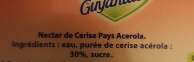 Cerise pays Acerola - Ingredienti - fr