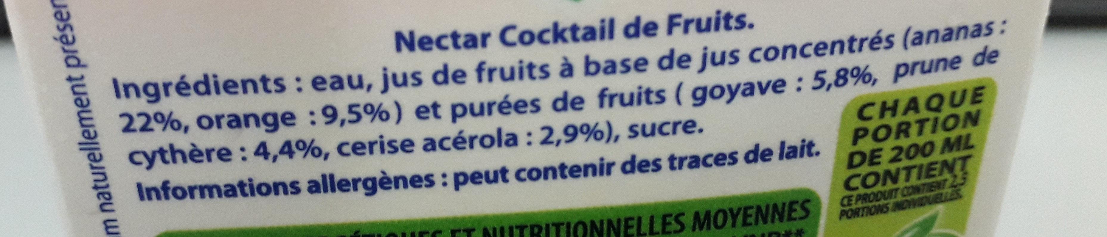 nectar Cocktail de fruits - Ingredienti - fr
