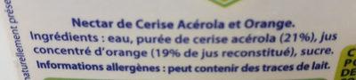 nectar cerise orange - Ingrediënten