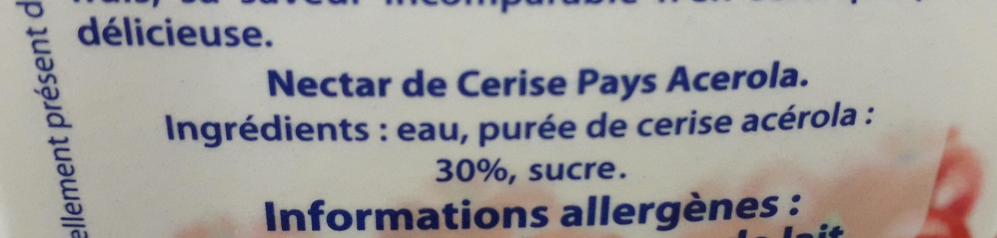 nectar Cerise Pays acerola - Ingredienti - fr