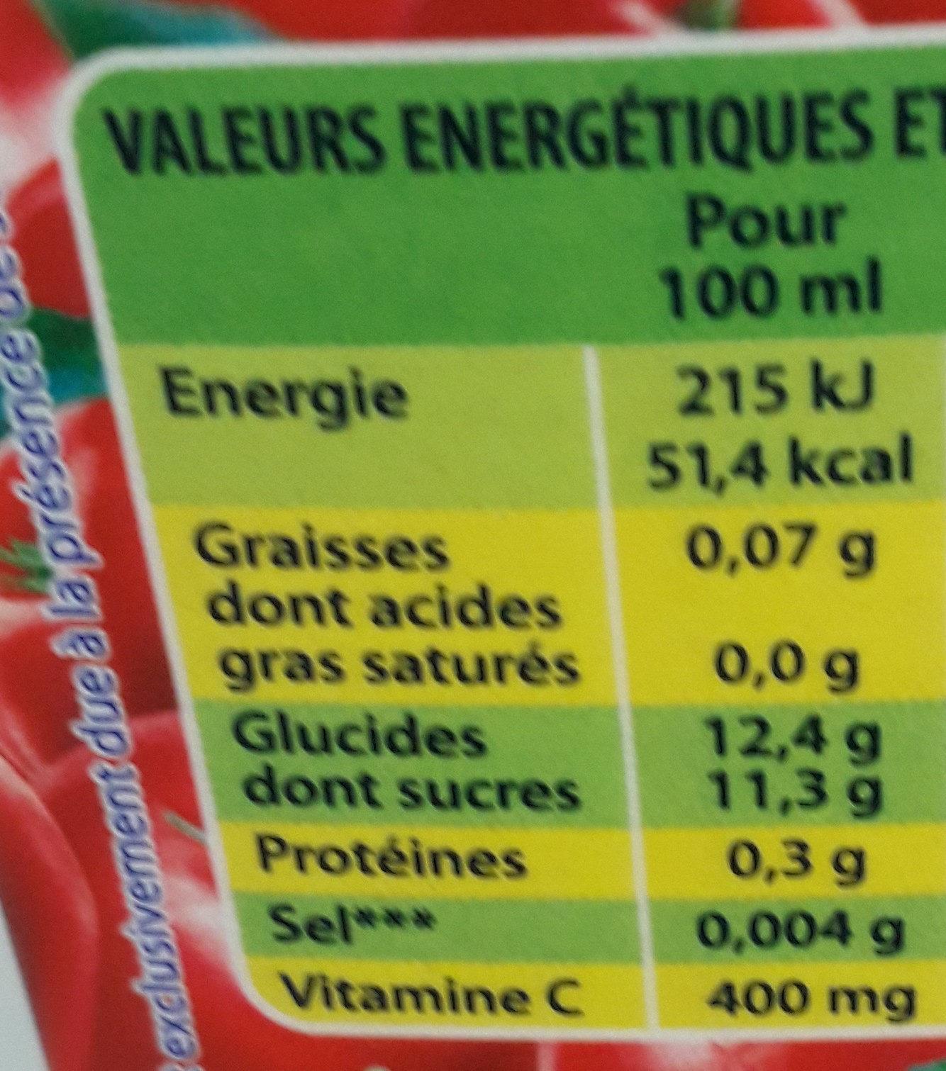 nectar Cerise Pays acerola - Valori nutrizionali - fr