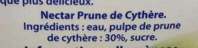 Nectar Prune de Cythère - Ingrediënten