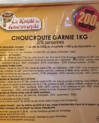 Choucroute garnie - Ingredients
