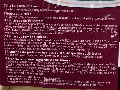 Choucroute garnie - Ingrédients