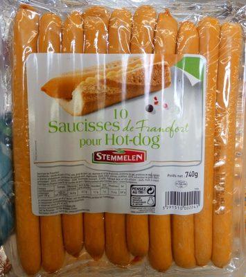 10 saucisses de Francfort pour hot-dog - Product