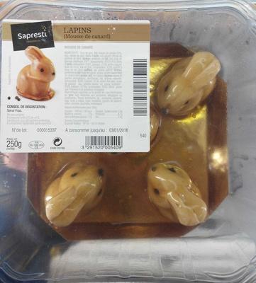 Lapins (mousse de canard) - Product - fr