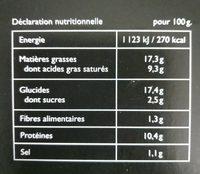6 corbeilles Tomate-jambon-fromage - Voedingswaarden - fr