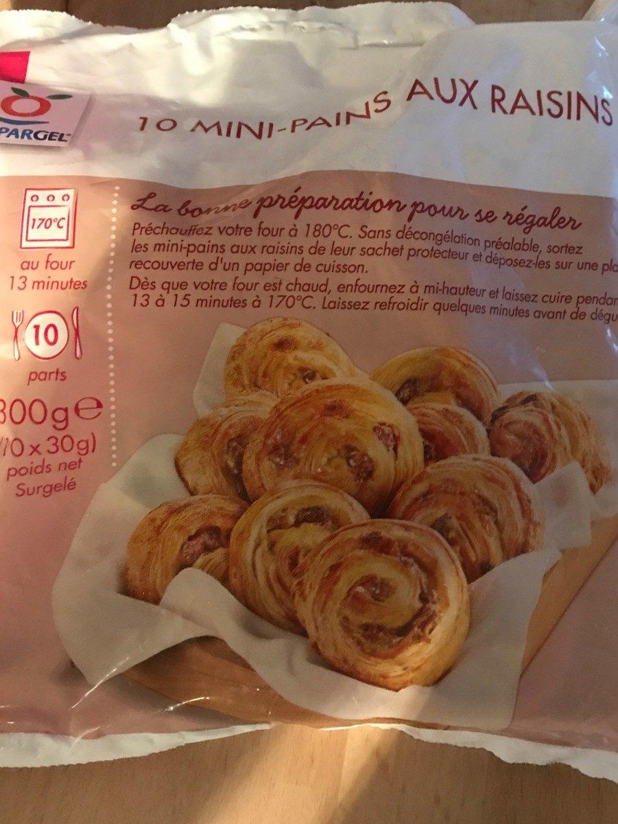 10 mini pains raisins - Produit - fr