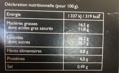 4 Millefeuilles - Informations nutritionnelles - fr