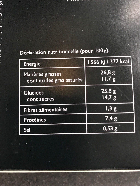 12 Paris-Brest - Nutrition facts