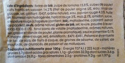 Sandwich Poulet Tex Mex - Ingredienti - fr
