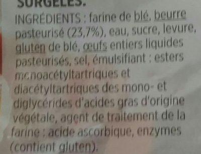 10 mini croissants pur beurre - Ingredients