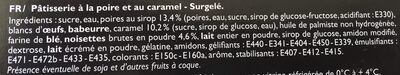 Le caramel poire - Ingrediënten - fr