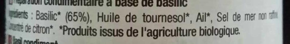 Basilic - Ingredients - fr