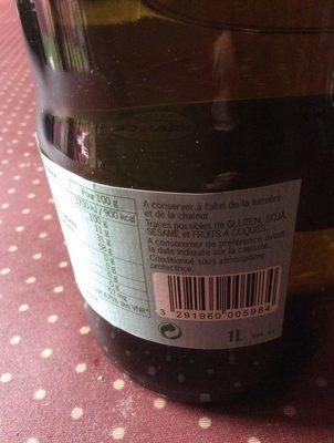 Huile de tournesol desodorisée - Ingrédients - fr
