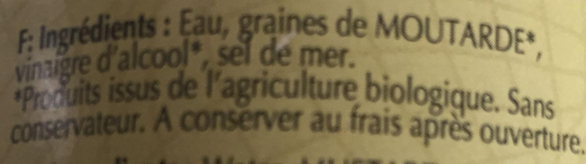 Moutarde forte de Dijon - Ingrédients - fr