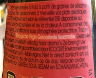 Emile Noel Sesamolie Geroosterd Bio 250ML - Ingrédients - fr