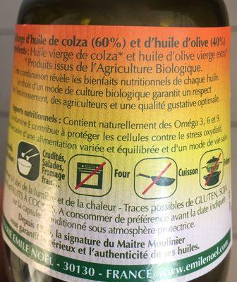 Huile De Colza Olive - Ingrédients - fr