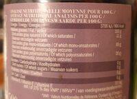 Huile De Colza Olive - Informations nutritionnelles - fr