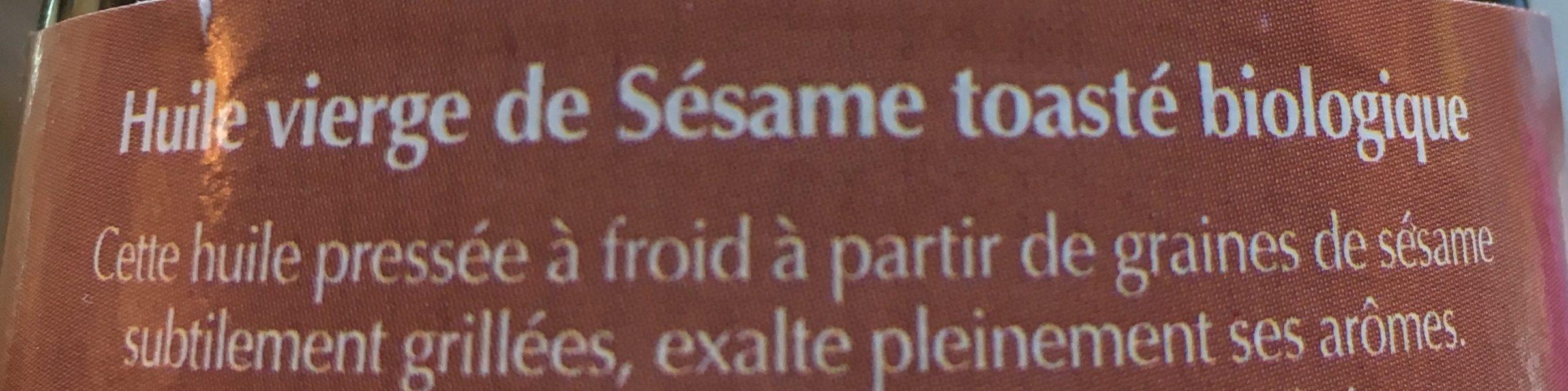 HUILE VIERGE DE SESAME TOASTE - Ingrédients - fr