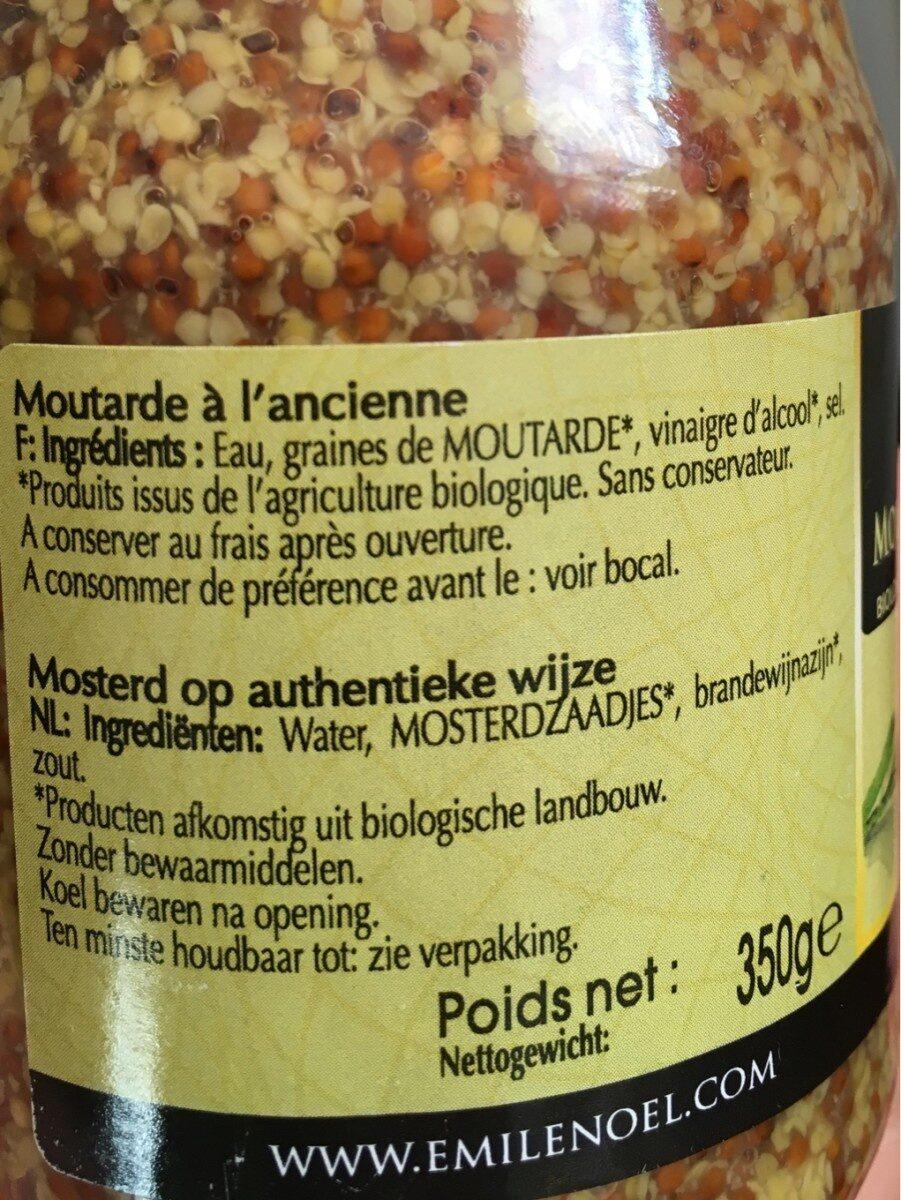 Moutarde complète à l'ancienne - Ingrediënten