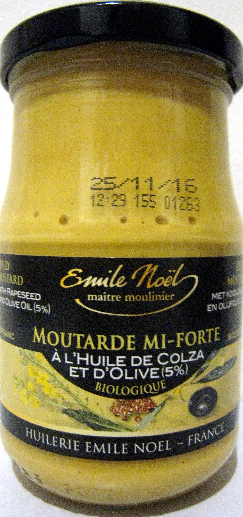 moutarde mi forte l 39 huile de colza et d 39 olive 5 emile noel 190 g. Black Bedroom Furniture Sets. Home Design Ideas