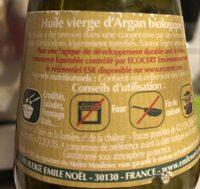 Huile D'argan - Ingrédients - fr