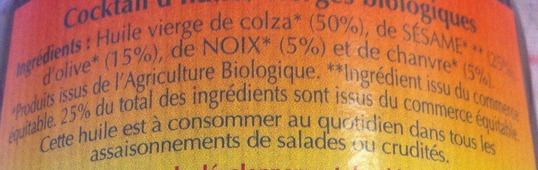Cocktail d'huiles vireges biologiques - Ingrédients - fr