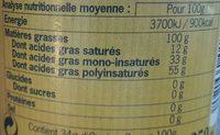Huile de cameline - Informations nutritionnelles - fr
