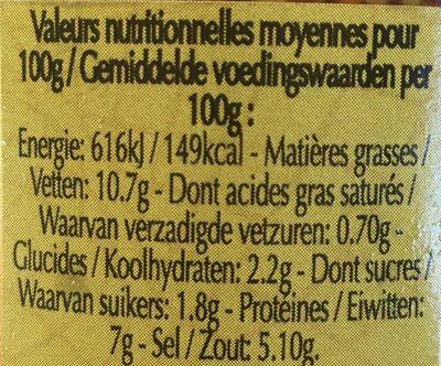 Moutarde complète à l'ancienne - Voedingswaarden - fr