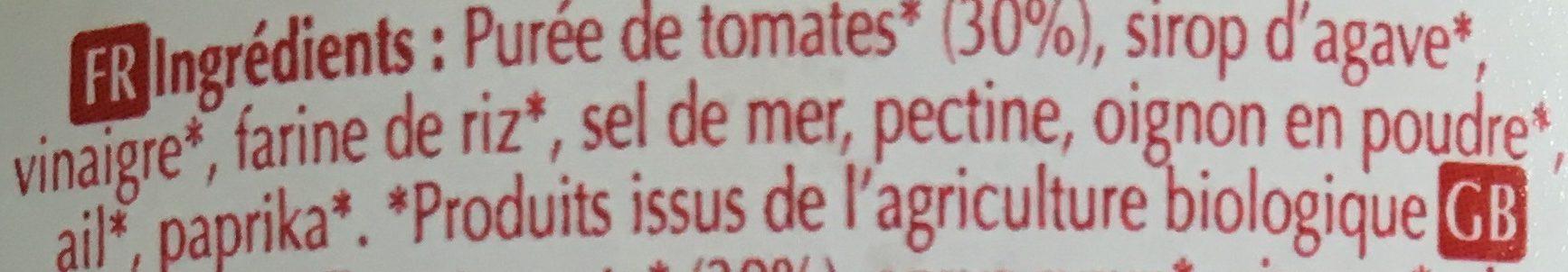 Ketchup Bio - Ingrédients - fr