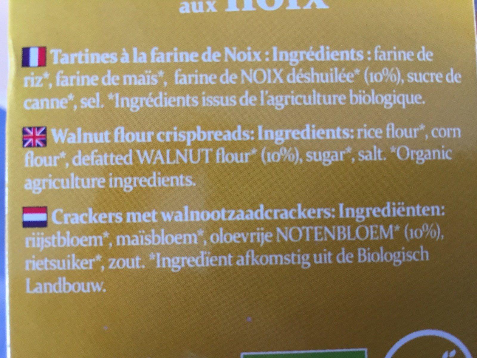 Tartines bio craquantes aux noix - Ingrédients - fr