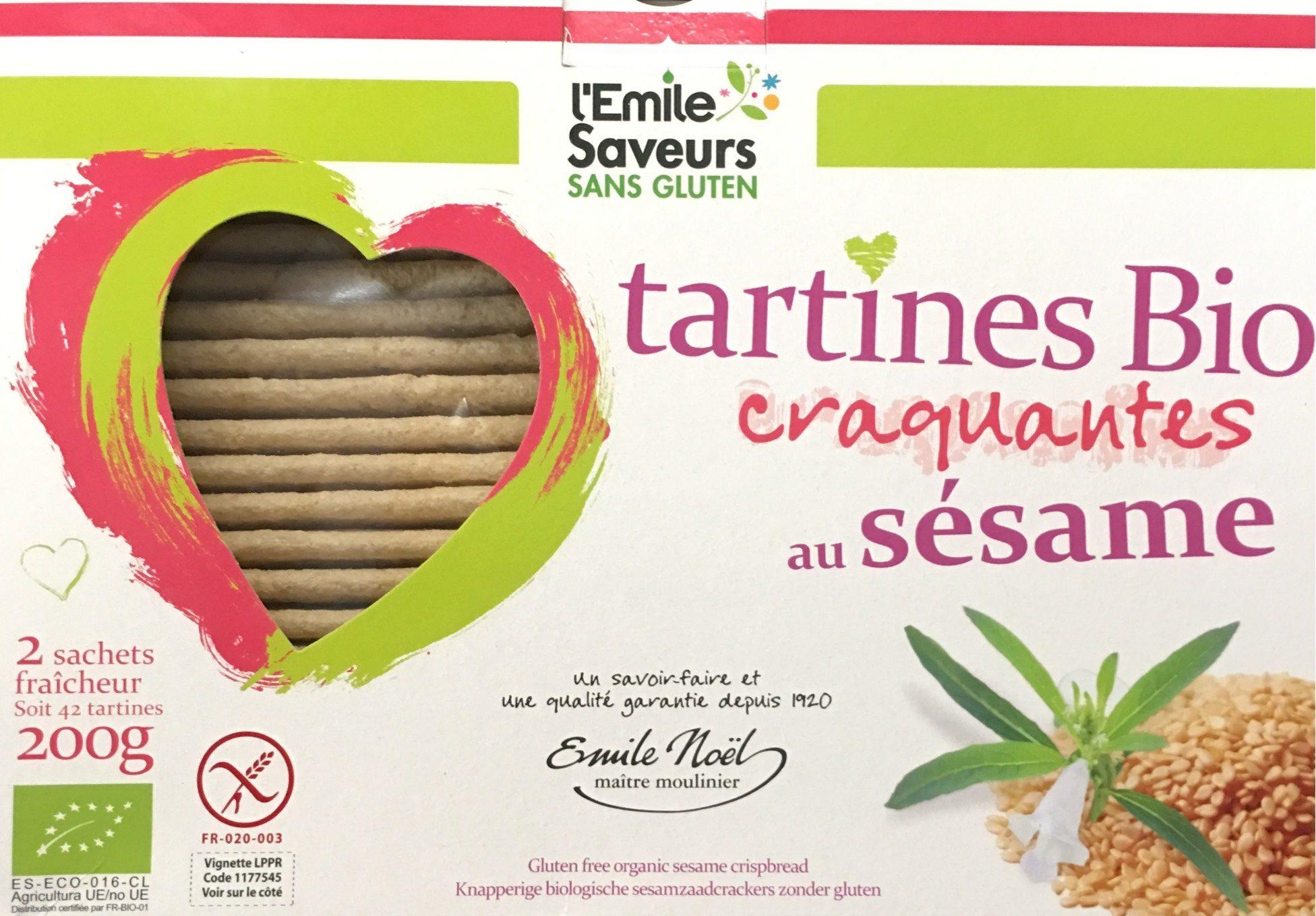 Tartines Bio Craquantes au Sésame - Product