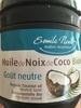 Huile de Noix de Coco Biologique Goût neutre - Produit