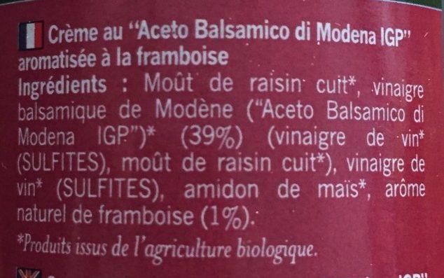 Creme de balsamique framboise - Ingrédients - fr