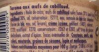 Tarama aux œufs de cabillaud - Ingredients