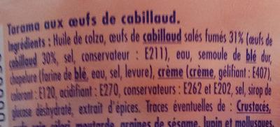 Tarama aux oeufs de cabillaud - Ingrédients - fr