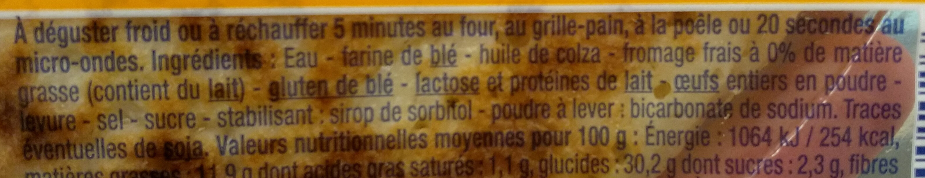 4 Blinis Moelleux - Ingredients