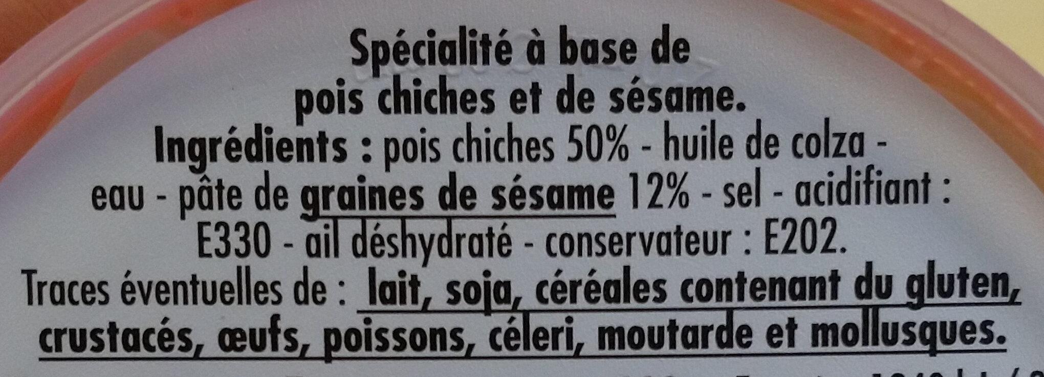Houmous - Ingrediënten - fr
