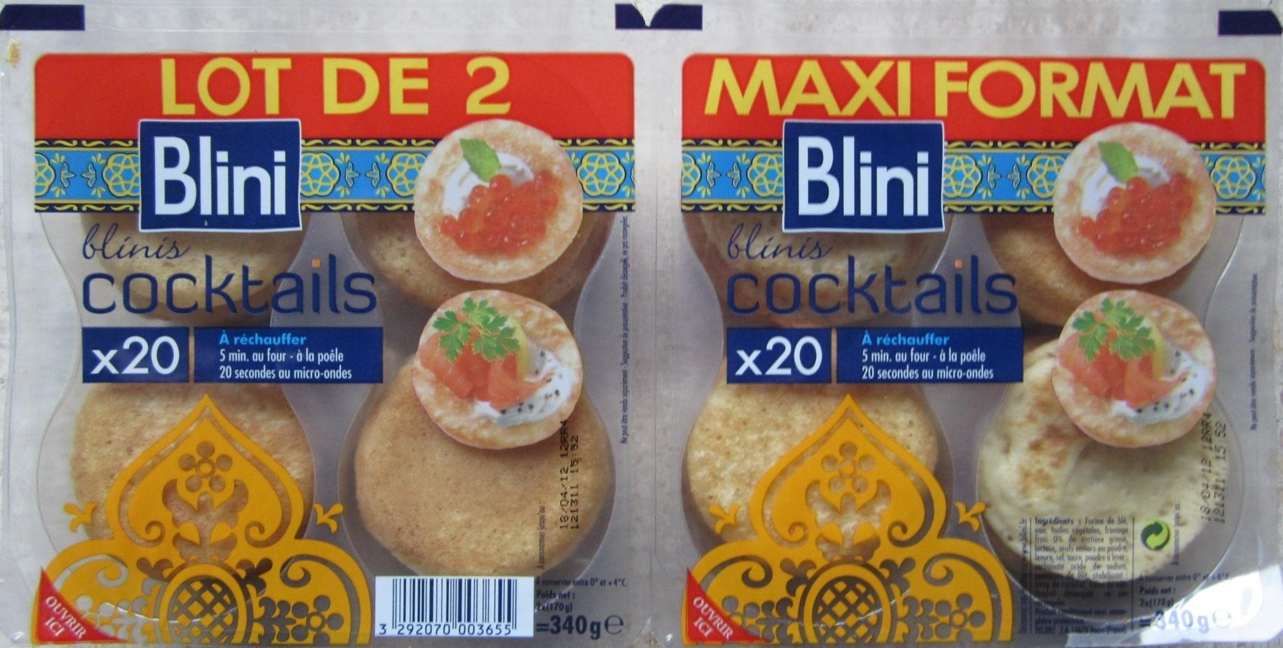 Blinis cocktails - Lot de 2 Maxi Format (x 20) - Product - fr