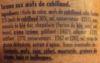 Tarama Blinis, 330g Prix Choc - Ingredients - fr