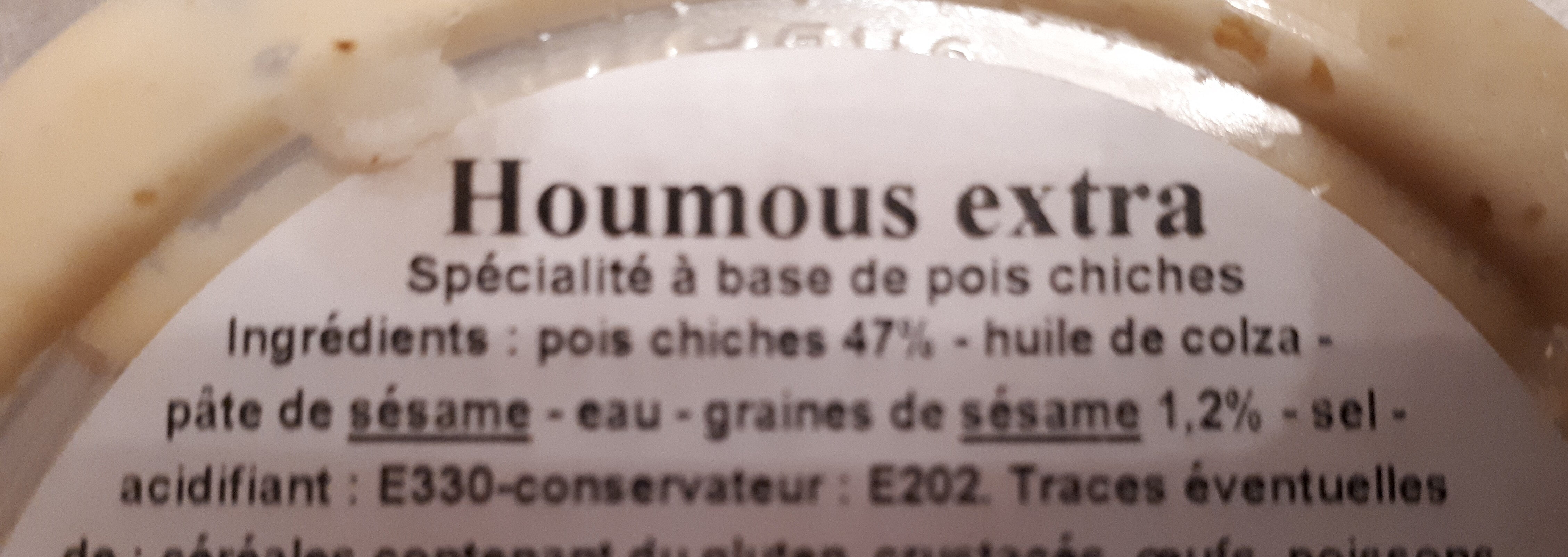 Houmous extra - Ingredienti - fr