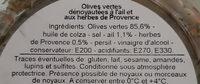 Olives manzanilla à la méditerranéenne - Ingrediënten - fr