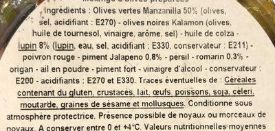 Olives manzanilla à l'andalouse - Ingrediënten - fr