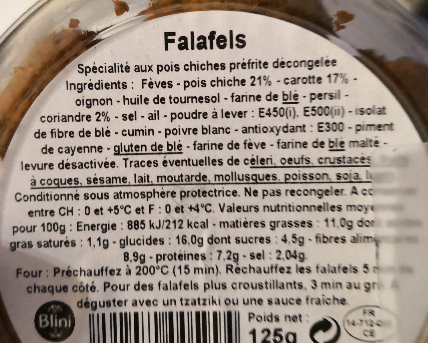 8 falafels - Ingrédients - fr