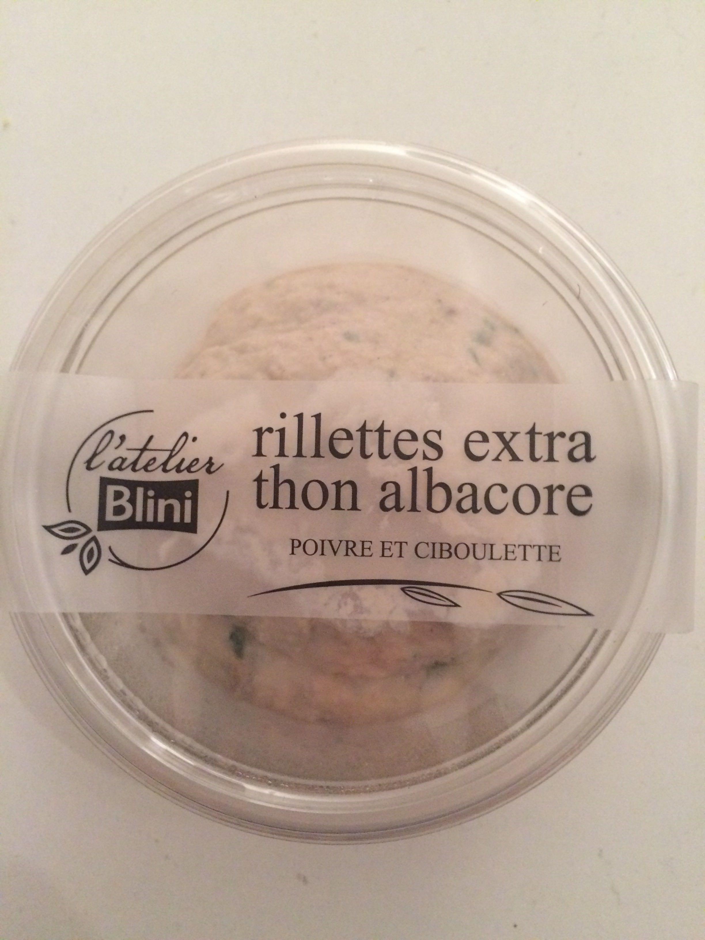 Rillettes extra thon albacore poivre et ciboulette - Produit - fr
