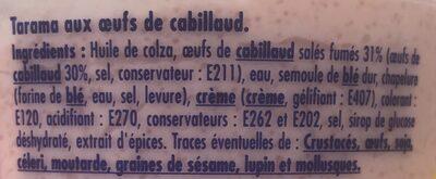 Tarama aux oeufs de cabillaud - Ingredients