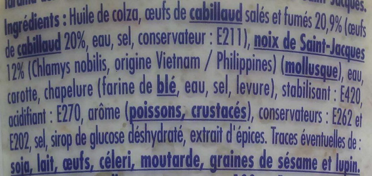 Tarama aux Saint-Jacques - Ingredients