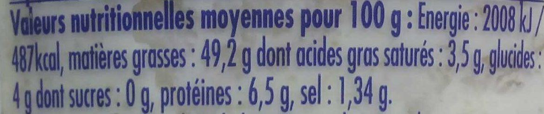 Tarama aux Saint-Jacques - Nutrition facts