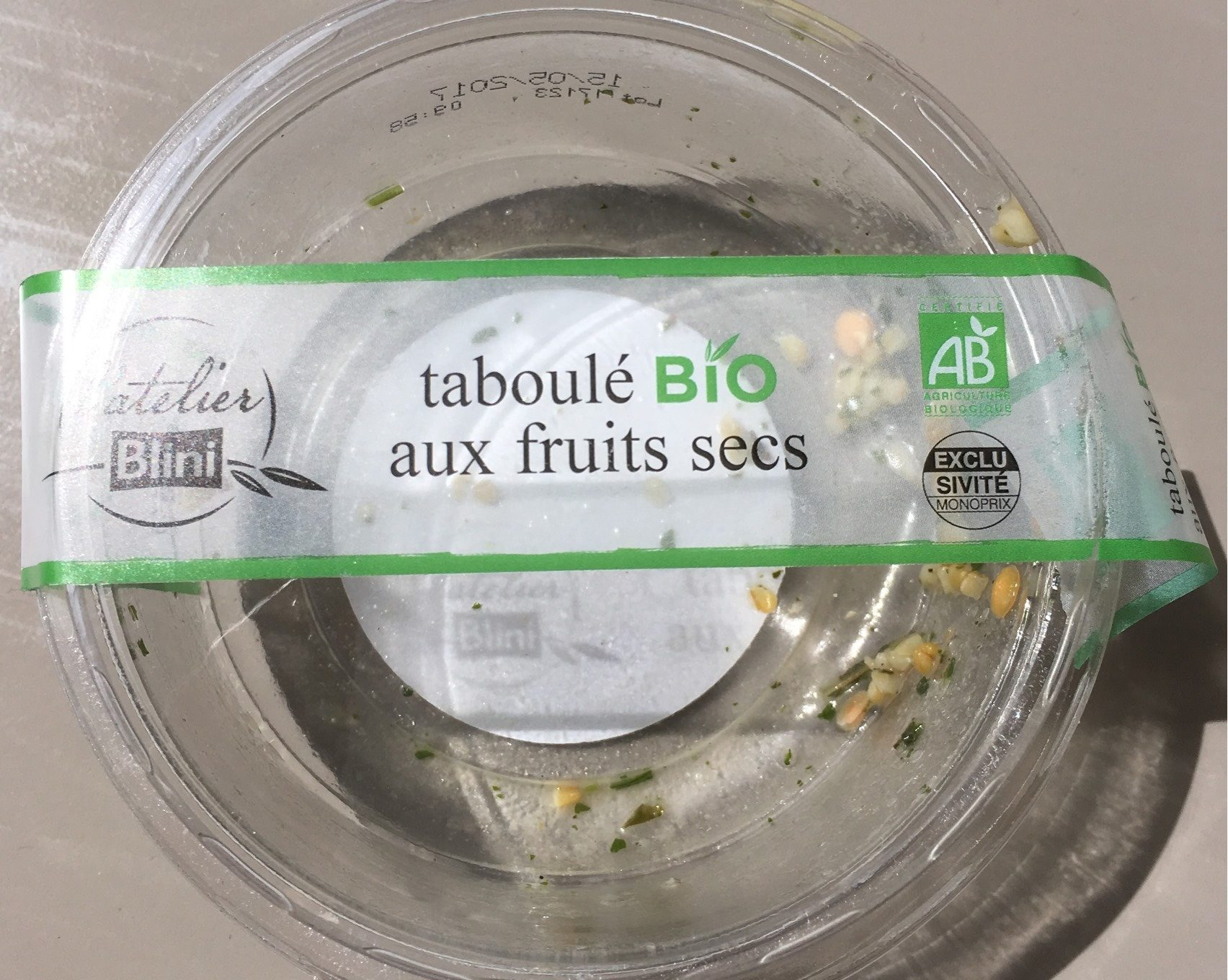 Taboulé bio aux fruits secs - Product